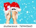 christmas shopping concept... | Shutterstock . vector #769445665
