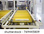 the conveyor chain  and... | Shutterstock . vector #769445809
