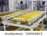 the conveyor chain  and... | Shutterstock . vector #769445815