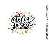 feliz navidad translated from... | Shutterstock .eps vector #769446091