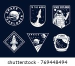 set of space and astronaut  ... | Shutterstock .eps vector #769448494