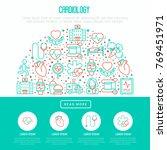 cardiology concept in half... | Shutterstock .eps vector #769451971