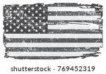 grunge usa flag.vintage flag of ... | Shutterstock .eps vector #769452319
