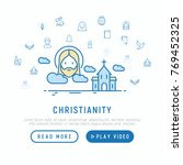christianity concept with thin... | Shutterstock .eps vector #769452325