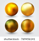 realistic golden ball.vector... | Shutterstock .eps vector #769456141