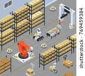 automatic logistics solutions... | Shutterstock .eps vector #769459384