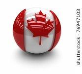 canada flag. | Shutterstock . vector #76947103