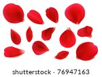 Stock photo beautiful red rose petals can be used for creating postcards wedding albums congratulation notes 76947163