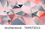abstract polygonal mosaic... | Shutterstock .eps vector #769473211