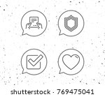 speech bubbles with signs.... | Shutterstock .eps vector #769475041