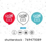 speech bubbles with symbol.... | Shutterstock .eps vector #769475089