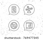 speech bubbles with signs.... | Shutterstock .eps vector #769477345