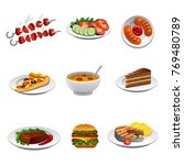 food icon set | Shutterstock . vector #769480789