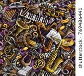 cartoon cute doodles classical... | Shutterstock .eps vector #769486441