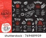 restaurant cafe menu  template...   Shutterstock .eps vector #769489939