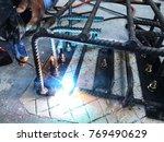 steel welding for making... | Shutterstock . vector #769490629