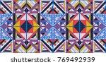 seamless geometric african... | Shutterstock .eps vector #769492939