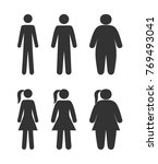 pictogram people  body types ... | Shutterstock .eps vector #769493041