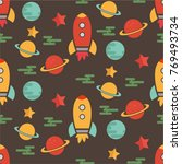 outer space trip planets and... | Shutterstock .eps vector #769493734