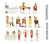 vector illustration of people...   Shutterstock .eps vector #769494901