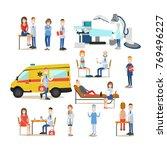 vector illustration of men and... | Shutterstock .eps vector #769496227