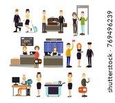 airport people vector icon set... | Shutterstock .eps vector #769496239