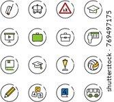 line vector icon set   suitcase ... | Shutterstock .eps vector #769497175