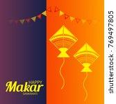 vector illustration of a banner ... | Shutterstock .eps vector #769497805