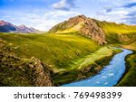 mountain river valley landscape | Shutterstock . vector #769498399