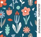cutout flowers and floral... | Shutterstock .eps vector #769498789