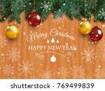 christmas card with detailed... | Shutterstock .eps vector #769499839
