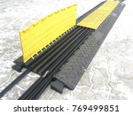 ground cable protector | Shutterstock . vector #769499851
