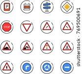 line vector icon set   parking... | Shutterstock .eps vector #769500691