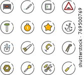line vector icon set   fenced... | Shutterstock .eps vector #769500769