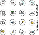 line vector icon set   coffee... | Shutterstock .eps vector #769502845