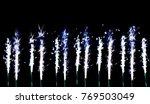firework of sparkling candles... | Shutterstock . vector #769503049