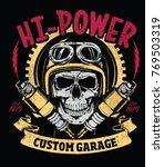 vector skull rider and spark... | Shutterstock .eps vector #769503319