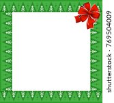 cute christmas frame with... | Shutterstock . vector #769504009