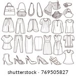 collection of fashionable women'...   Shutterstock .eps vector #769505827