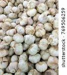Small photo of White garlic / Onion