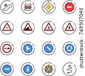 line vector icon set  ... | Shutterstock .eps vector #769507045