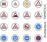 line vector icon set   sign... | Shutterstock .eps vector #769507111