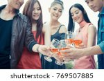 group of asia people hands... | Shutterstock . vector #769507885