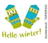 winter mittens illustrations in ... | Shutterstock .eps vector #769509241