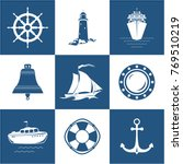 set of marine icons   sailing... | Shutterstock .eps vector #769510219
