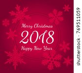 merry christmas and happy new... | Shutterstock .eps vector #769511059