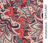 tracery seamless pattern.... | Shutterstock .eps vector #769511407