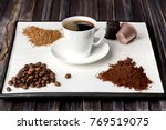 Espresso Cup  Coffee Beans ...