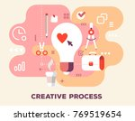 creative process with office... | Shutterstock .eps vector #769519654
