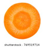 carrot slice. carrot top view.... | Shutterstock . vector #769519714